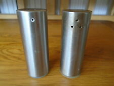 Small brushed chrome salt and pepper pots