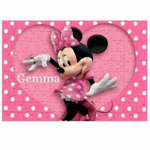 80 Pieces A5 Jigsaw Puzzle - Lockdown Kids Game - Minnie Mouse Personalised