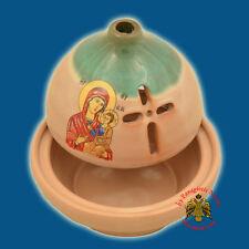Orthodox Ceramic Theomitor Panagia Oil Candle Vigil Lamp 5 Colours Ewiglicht
