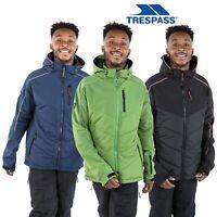 Trespass Mens Ski Jacket Padded Windproof Hooded Coat Black Navy Green
