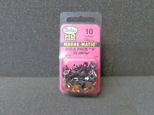 HO #5 Bulk Pack Metal Shank Magne-Matic Couplers - Kadee #10 < vmf121