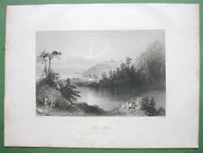 CANADA Lily Lake St. John's - 1841 Engraving Print by BARTLETT