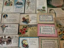 Lot of 38 Vintage Greeting Postcards with Psalms~BIBLE VERSE Religious-33 unused