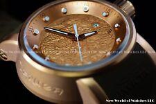 NEW Invicta Men 48mm S1 Yakuza Dragon Automatic 18K Rose Gold Brown Strap Watch