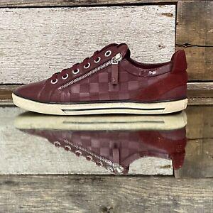 Louis Vuitton Damier Aventure Challenge Sneakers Zipper Maroon [MS0153] US sz 8