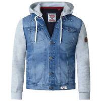 Mens Denim Jacket D555 Duke Big King Size Western Style Coat Vintage Hoodie New