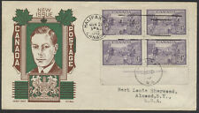 1949 #283 Halifax Bicentenary FDC, Plate Block, Cachet Craft/ Boll Cachet