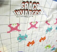Vintage 1982 Space Invaders Atari video game   Twin Fitted Bottom Sheet