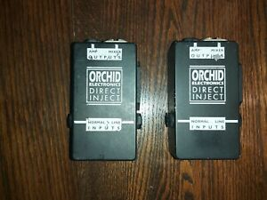 2 x Orchid Electronics D.I. (direct inject) Boxes.