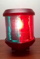 LARGE MARINE COMBINATION RED GREEN BOW NAVIGATION LIGHT WATERPROOF 2 NM