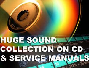 Manual & sound library x Yamaha DX7 DX 7II DX21 TX802 DX9 service + sounds patch