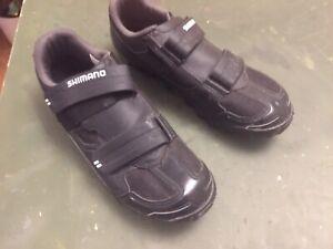 SHIMANO SH-M065L Cycling Mountain Bike Shoes Boots Hook & Loop SPD Black EU 45