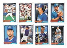 1992 TOPPS MLB BASEBALL TORONTO BLUE JAYS TEAM SET (33) WELLS,ALOMAR,CARTER,KEY