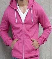 Ladies man-fit hoodie zoodie heather pink, AWDis JH058 Size 16-18 XL NEW