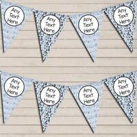 Music Notes Blue Personalised Birthday Bunting