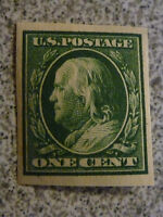 MNH OG 1910 Franklin #383 1 CENT Green