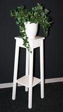 Massivholz Blumentisch 80cm Höhe weiß Beistelltisch Blumenhocker Blumenständer