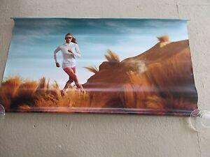 Fitness Poster Oakley 2012 Heavy Vinyl Banner Sign 46x27  Running Exercise