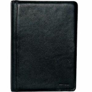 Pierre Cardin Leather A4 Business Folio Compendium | Black Paper Organiser