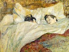 Henri TOULOUSE LAUTREC-il letto - 24' Canvas
