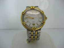 MAURICE LACROIX UNISEX TWO TONE WATCH WITH WHITE DIAL
