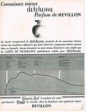 PUBLICITE ADVERTISING  1963  REVILLON  parfum DETCHEMA  CARNET DE BAL