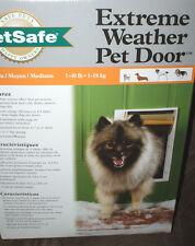 PetSafe Extreme Weather Door Mount Pet Door Medium 1-40 lbs.NEW