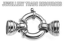 Nuevos De Plata Esterlina 925 Jumbo Perno Anillo la fabricación de joyas capturas Broche De 15 Mm + tapas