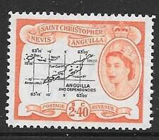 ST. Kitts-Nevis sg117b 1957 $2.40 NERO & ROSSO-ARANCIO MTD Nuovo di zecca