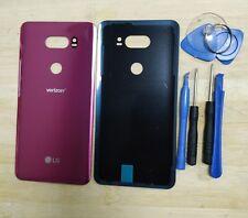 OEM Glass Battery Back Cover Door Housing For LG V30 VS996 Verizon Red