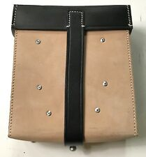 WWII GERMAN MG GUNNER TOOL POUCH- BLACK & NATURAL LEATHER