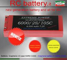 """BATTERIA 6.000 mAh 7.2V 105C HARD CASE LIPO GRAPHENE 2.0 """"EXTREME POWER"""" NOVITA'"""