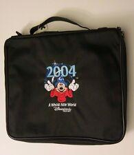 Disneyland Disney 2004 Pin Case Bag Whole New World Mickey Sorcerer Black Zip