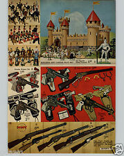 1963 PAPER AD 2 PG Britains Toy Soldiers Daisy Smoke Lawman Singin Training