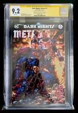 DARK NIGHTS METAL #3 CGC SS 9.2 signed SCOTT SNYDER WHITE pages FINCH CAPULLO DC