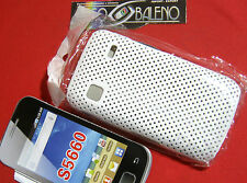 COVER CUSTODIA per SAMSUNG GALAXY GIO' GT S5660 BIANCO RIGIDA SLIM MESH CASE