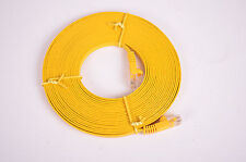 20' Cat 5e Flat Network Cable, Yellow