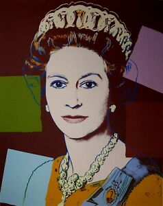 Andy Warhol, Queen Elizabeth II, Plate Signed Lithograph