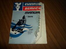 1975 2 HP Genuine Evinrude Johnson Outboard Repair & Service Manual 2HP