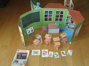 1965 Barbie & Skipper School House Cardboard Structure VINTAGE 1960's Rare