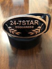 DSQUARED2 24-7 Star Buckle Leather Belt Size 80