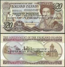Falkland Islands,P19,2011,20 Pounds,AU Uncirculated,QE II@ Ebanknoteshop