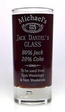 Personalised JACK DANIELS % Highball Glass Gift Birthday/Dad/Grandad/Mum/Nanny