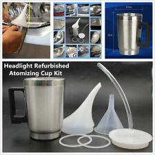 Car Headlight Lens Lamp Atomizing Cup Kit Polish Repair Tool Restoration 500ML