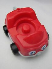Fisher Price Little People RED CAR VEHICLE GARAGE w/ EYES & TRAILER HITCH VHTF