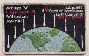 """ATLAS V AV-092 LANDSAT 9 ROCKET MISSION SPACE PATCH 4"""""""