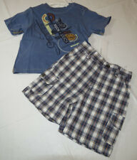 Baby Calvin Klein plaid shorts blue T shirt set 18 M Months boy's outfit 3672177