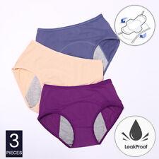 3 шт. герметичная менструальный женский нижнее белье трусики бесшовные период трусы L-6XL