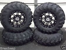 "25""  ITP MUD LITE ATV TIRE & STI HD3 BLK WHEEL KIT LIFETIME WARRANTY IRS1CA"