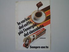 advertising Pubblicità 1986 FERRERO POCKET COFFEE